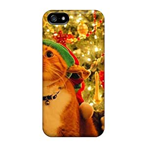 Joyful Christmas Flip With For Iphone 5/5s PC cell phone trendy case miao's Customization case