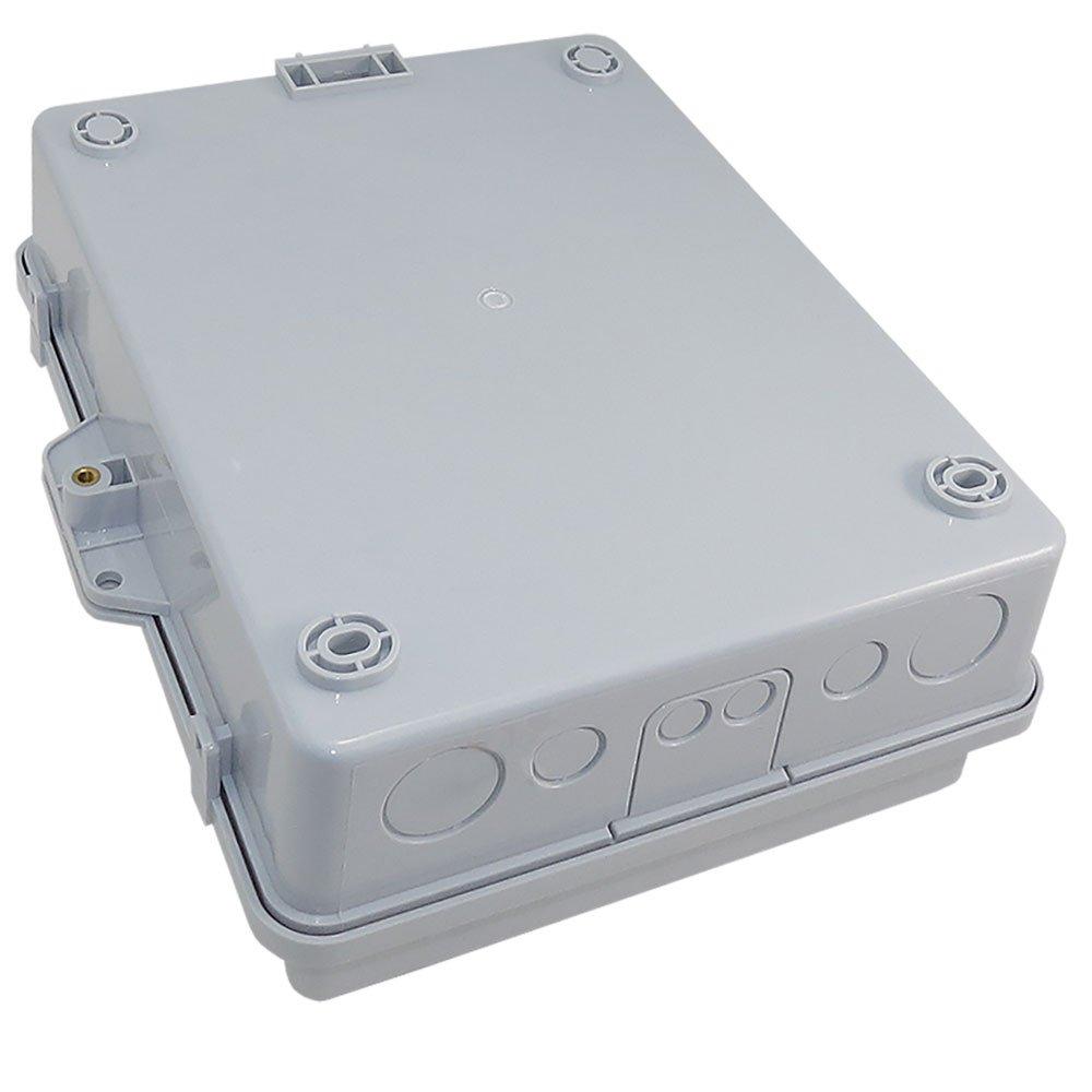 Altelix Vented NEMA Enclosure (12'' x 8'' x 3.2'' Inside Space) Polycarbonate + ABS Weatherproof NEMA Box with Aluminum Equipment Mounting Plate by Altelix (Image #6)