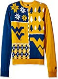 Klew NCAA Busy Block Sweater, XX-Large, West Virginia Mountaineers