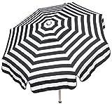 (Ship from USA) Italian Bistro 6-foot Acrylic Patio Umbrella Beach Pole Black White Striped New /ITEM NO#8Y-IFW81854175453