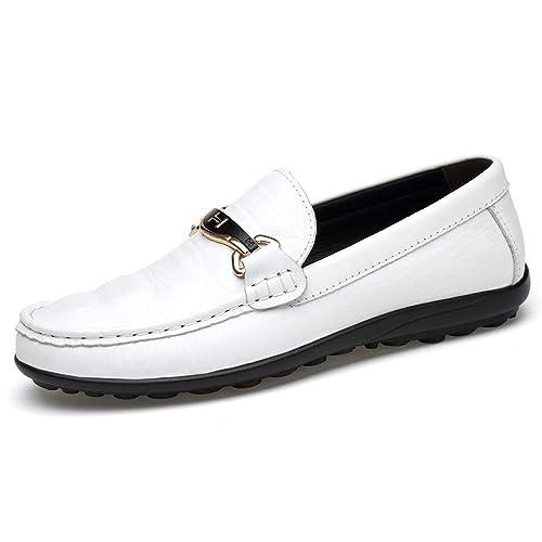 Hombre Mocasines de conducción Transpirable de tacón Plano de Piel de cocodrilo Texure Wave Suela Mocasines Zapatos: Amazon.es: Zapatos y complementos