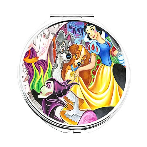DISNEY COLLECTION Makeup Mirror for Women Girls Drawing of All Disney Characters -