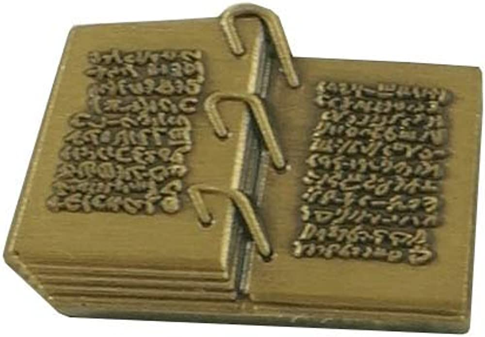 Johnson Brothers LDS Book of Mormon pin, Gold Plates pin