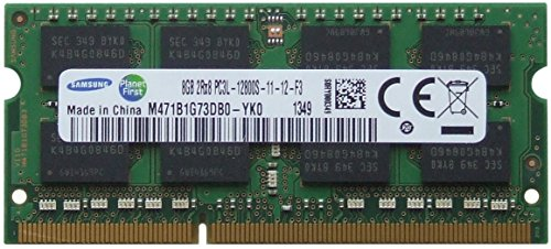 Samsung original 8GB (1 x 8GB) 204-pin SODIMM, DDR3 PC3L-12800, 1600MHz ram memory module for laptops ()