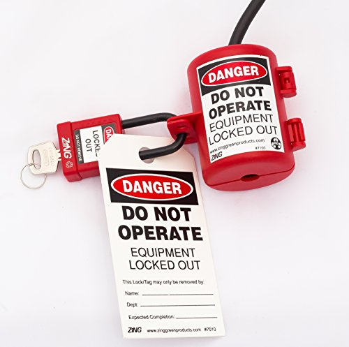 ZING 7105 RecycLockout Lockout Tagout, Small Plug Lockout, Recycled Plastic by Zing Green Products (Image #3)