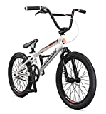Mongoose Title Elite Pro BMX Race Bike for Advanced Riders, Featuring Professional-Grade 6061 Tectonic T1 Biaxial Hydroformed and Butted Aluminum Frame with 20-Inch Wheels, White