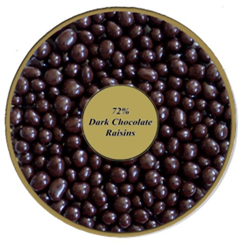 72% Dark Chocolate covered Raisins by Healthy Nut Factory
