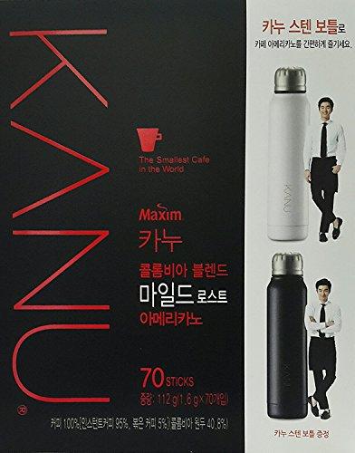 Best Coffee Maxim KANU Americano Instant Coffee 1.6g 70 sticks with Gift (Mild ()
