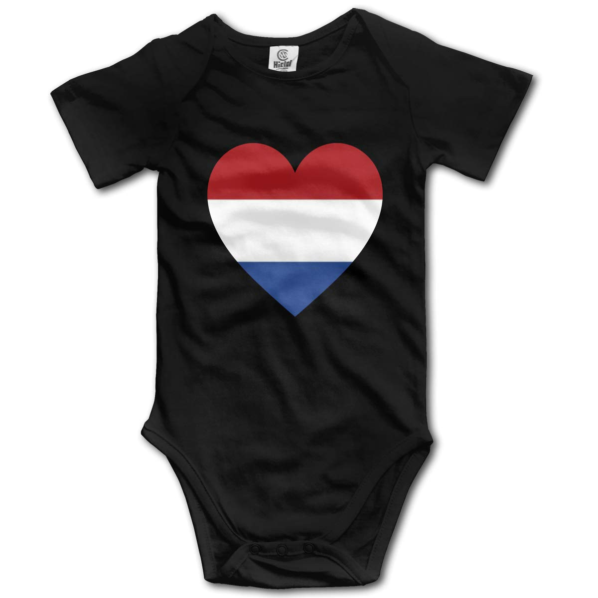Baby Short-Sleeve Onesies Love Netherlands Flag Bodysuit Baby Outfits