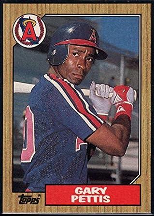 Amazoncom 1987 Topps Official Mlb Baseball Card 278 Gary Pettis