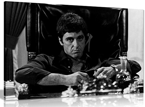 Tony Montana Scarface Al Pacino Canvas Wall Art Picture Print (18x12in)