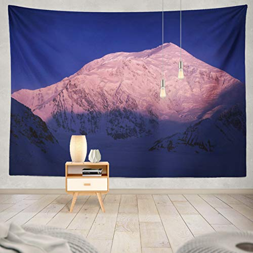 ASOCO Tapestry Wall Handing Alaska Mountain Sunrise Winter Landscape America Camp Beautiful Camp Wall Tapestry for Bedroom Living Room Tablecloth Dorm 80