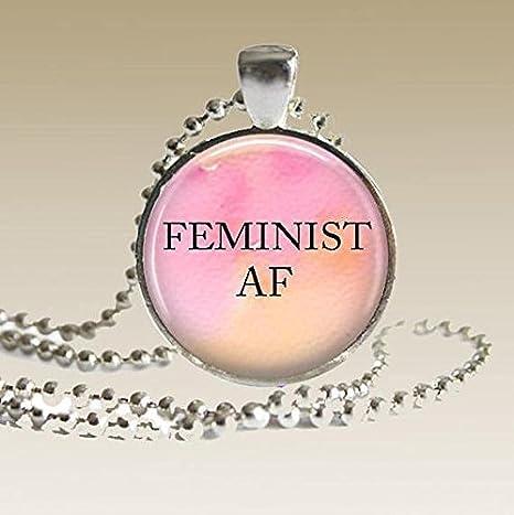 Collar feminista, colgante femenino joyería regalo para su ...