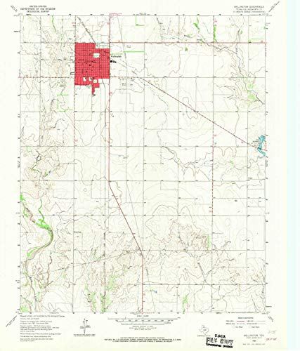 - Wellington TX topo map, 1:24000 Scale, 7.5 X 7.5 Minute, Historical, 1964, Updated 1967, 26.9 x 23 in - Paper