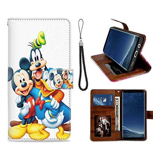 DISNEY COLLECTION Samsung Galaxy S8 Plus Wallet Case with Kickstand (2017) (6.2-Inch) Disney Cartoon Donald Goofy Heroes Mickey 1 Feature