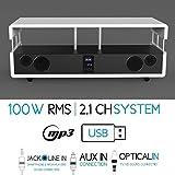 SoundVision 100W RMS Système Home Cinéma 2.1canaux–blanc