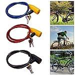 LeKing-Lucchetto-per-Bicicletta-Serrature-per-Cavi-per-Catena-da-Bicicletta-21-Sistema-di-Sicurezza-per-Piedi-con-2-Cavi-per-Lucchetto