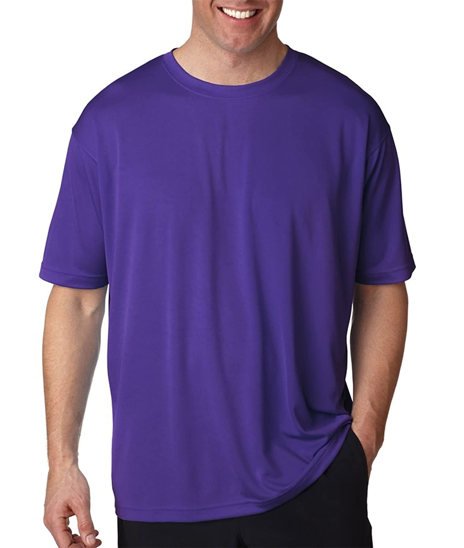 Ultraclub Mens Cool & Dry Sport Tee 8400-Purple