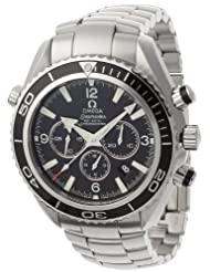 Omega Men's Seamaster Planet Ocean Automatic Chronometer Chronograph Watch Black 2210.5