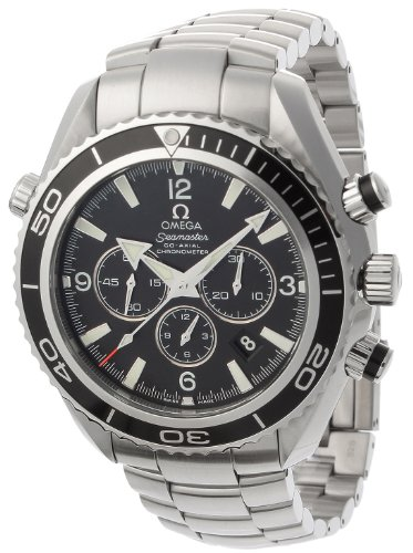 Omega Mens 2210.50.00 Seamaster Planet Ocean Automatic Chronometer Chronograph Watch