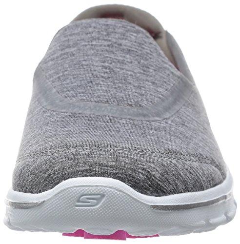 en el zapato Skechers Caminar 3 Resbalón Heathered Gray Rendimiento Reinicio Go Walk qpz0rq8