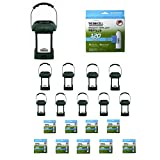 Thermacell MR-9L Outdoor Mosquito Repellers/Lanterns (10) & 5 Mega Pack Refill Sets (240 Mats/100 Cartridges)