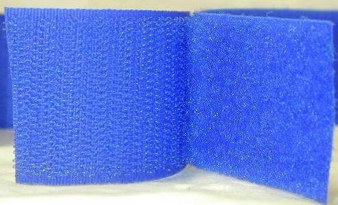 3/4'' Royal Blue Sew On Hook and Loop - 5 Yds of Hook and 5 Yds of Loop Per Package 5 Yd by Generic