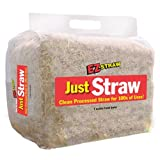 EZ Straw Just Straw Clean Processed Straw, Small Bale (1 cubic foot bale)