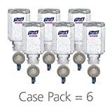 PURELL Advanced Hand Sanitizer Gel Refill, 450 mL Sanitizer Refill for PURELL ES Everywhere System Starter Kit (Case of 6) – 1450-06