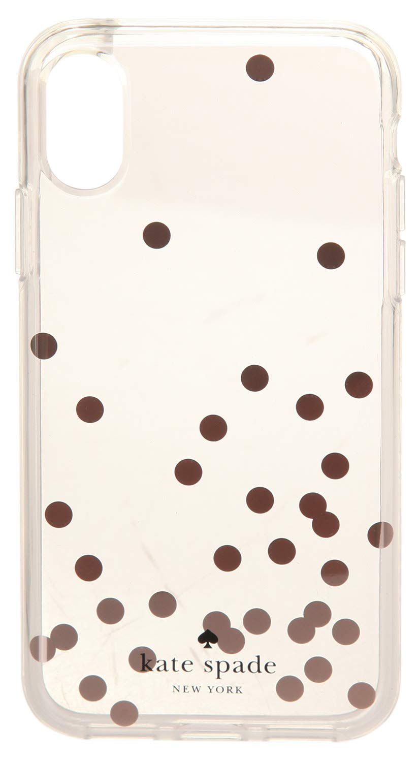 Kate Spade New York Women's Confetti Rose Gold Foil Phone Case for iPhone X Clear Multi One Size