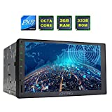 JOYING Head Unit 7 inch PX5 Octa-core 2GB Ram 32GB Rom Double Din Universal Car Stereo with Zlink & Phone Mirroring Function Android 6.0 GPS Head Unit Support Android Auto