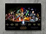 Star Wars Poster - SAGA THE FORCE AWAKENS Movie Canvas Print Revenge Sith Wall Art Posters Print Standard Size 18'x24' Inches