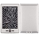 Skinomi Kindle Screen Protector + Silver Carbon Fiber Full Body (2012), TechSkin Silver Carbon Fiber Skin for Kindle with Anti-Bubble Clear Film Screen