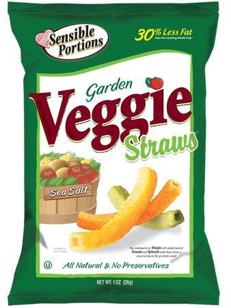 Sensible Portions Garden Veggie Straws, Sea Salt, 1 oz, 24 pk