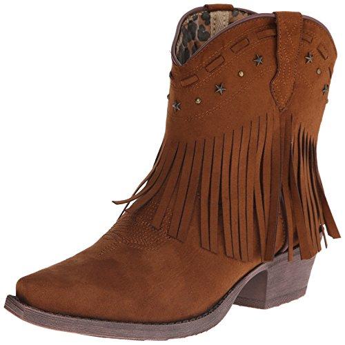 Dingo Women's Cassidy Western Boot, Rust, 7.5 M US