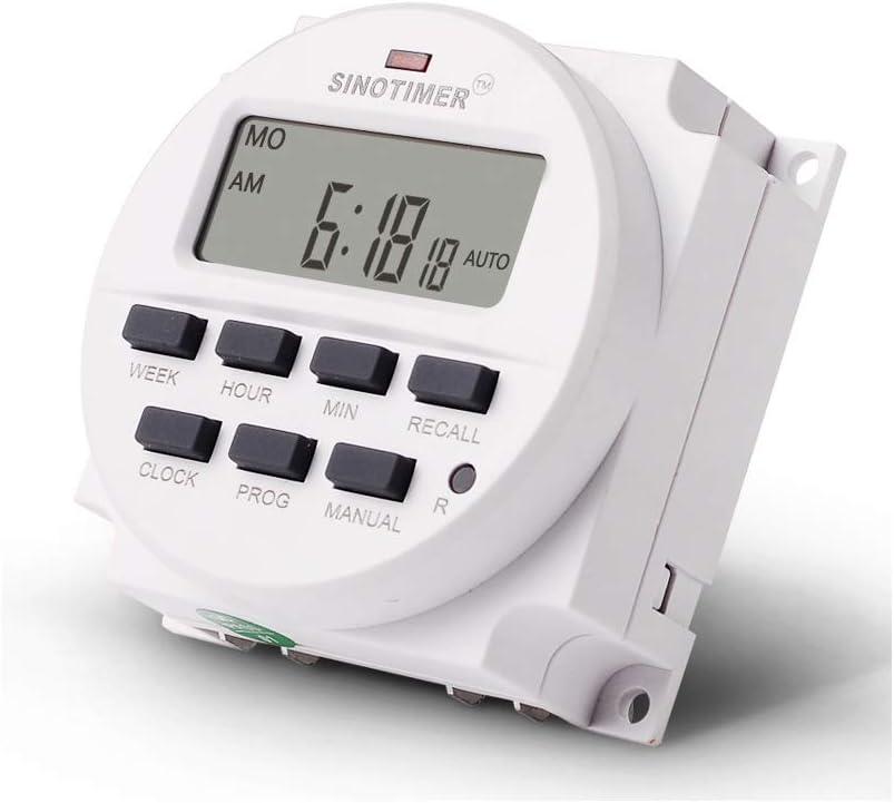 JHFF TM618H Relais programmable 5 V programmateur hebdomadaire 120 V num/érique minuteur 12 24 V 12 V 220 V