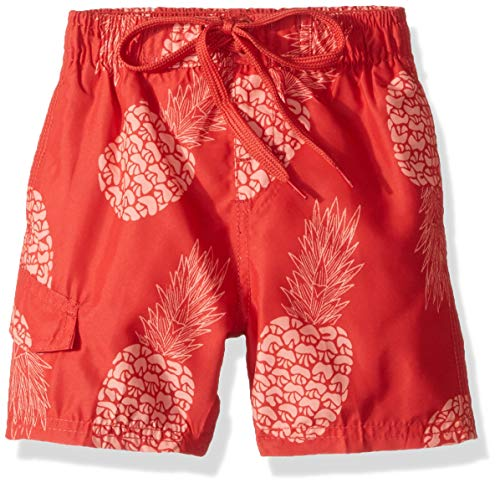 Kanu Surf Toddler Boys' Specter Quick Dry Beach Swim Trunk, Pina Red, 3T ()