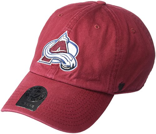 '47 NHL Colorado Avalanche Clean Up Adjustable Hat, One Size, Cardinal ()