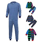 Family Matching Pajamas Sets Christmas Pajamas Outfit Stripe Print Holiday Clothes PJ Sets Dad Kids Boys Sleepwear
