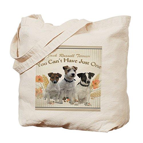 CafePress Jack Russell–Can 't Have solo un alfombrilla de ratón–Gamuza de bolsa de lona bolsa, bolsa de la compra