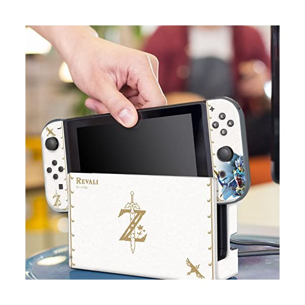 """Controller Gear Nintendo Switch Skin & Screen Protector Set Officially Licensed By Nintendo - The Legend of Zelda: Breath of the Wild: """"Revali White Pattern"""" - Nintendo Switch 6"""
