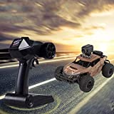 Hot High Speed RC Off-Road Car 1 18 2.4G 20km H 4 WD Independent Suspension Off-Road Rally Car Rechargeable Climbing Crawler Off-Road RC Car for Adults and Children (Khaki)