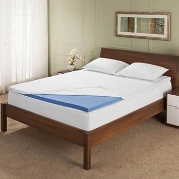 Serta resto - 3 Inch Gel colchón de espuma con efecto memoria Topper (Reina): Amazon.es: Hogar