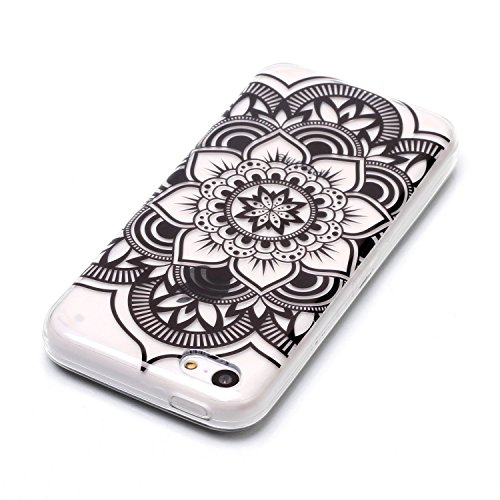 Custodia iPhone 6 / 6S , LH Nero Datura TPU Trasparente Silicone Cristallo Morbido Case Cover Custodie per Apple iPhone 6 / 6S 4.7