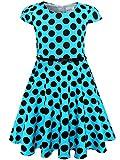 Bonny Billy Baby Girls Birthday Dress with Belt 2-6x Blue
