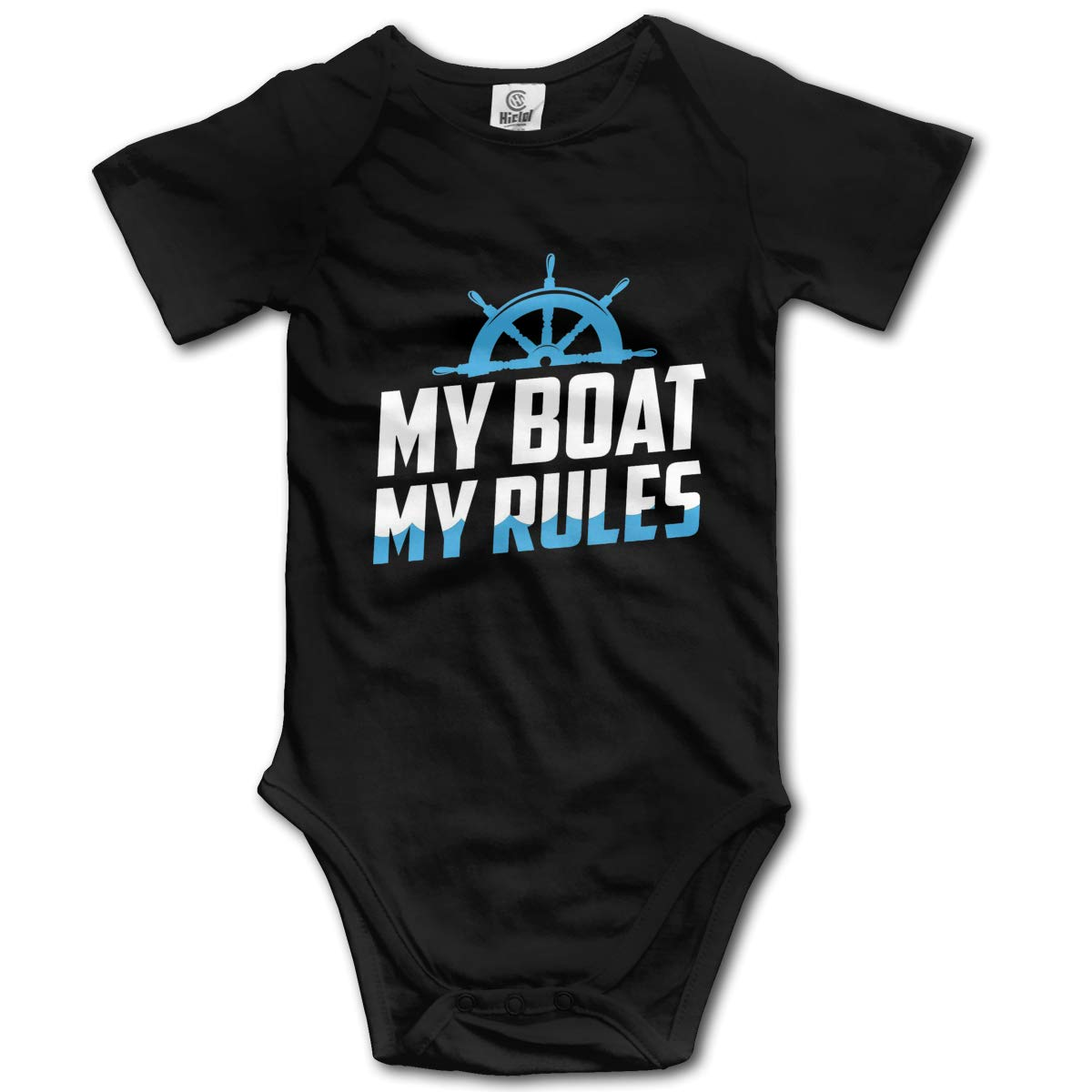 VANMASS Babys My Boat My Rules Short Sleeve Climbing Bodysuits Jumpsuit