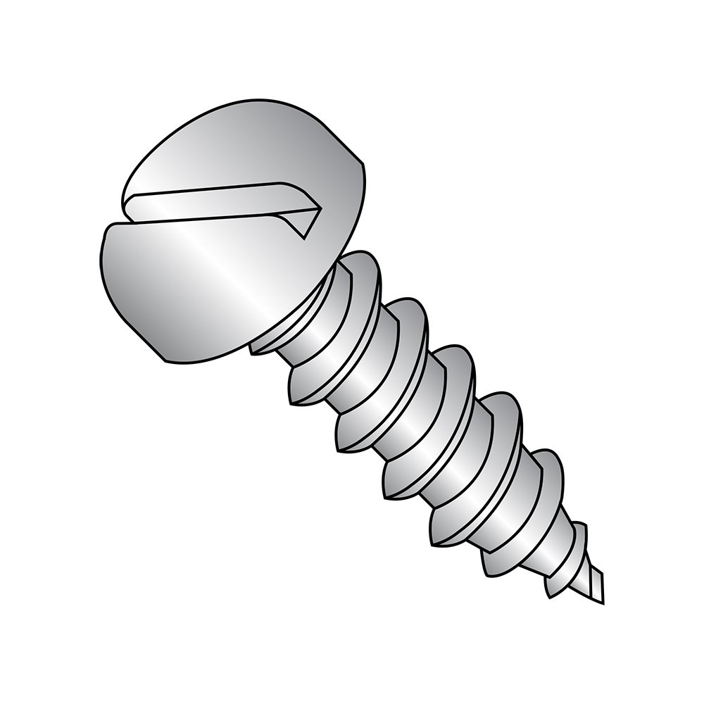 Type AB #6-20 Thread Size Slotted Drive 18-8 Stainless Steel Sheet Metal Screw Pack of 100 1//4 Length Small Parts 0604ABSP188 Pan Head Plain Finish 1//4 Length Pack of 100