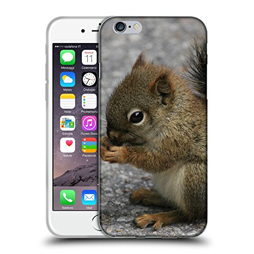 Just Phone Cases Coque de Protection TPU Silicone Case pour // V00004159 Adorable petit écureuil mange // Apple iPhone 6 6S 6G PLUS 5.5""
