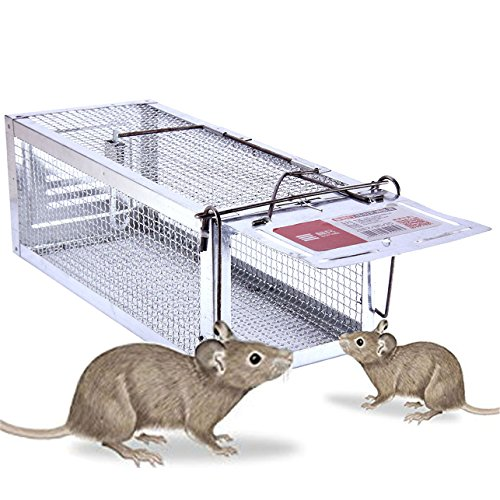 Flying Trap (StarMiUp Rat Trap - Small Animal Humane Live Cage Catches Rats, Mice, Hamsters, Chipmunks and Other Small Rodents)