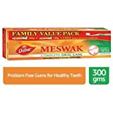 Dabur Meswak Toothpaste - 300 g (Family Pack) with toothbrush